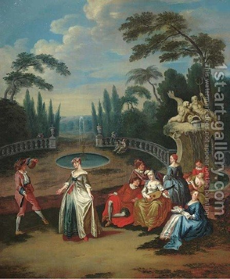 A fete champetre by (after) Lancret, Nicolas - Reproduction Oil Painting