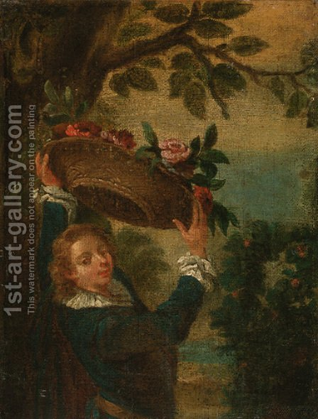 The garland bearer by (after) Lancret, Nicolas - Reproduction Oil Painting