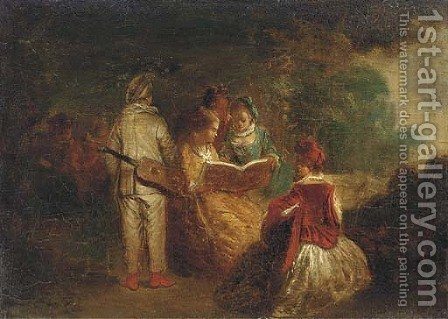 The story teller by (after) Lancret, Nicolas - Reproduction Oil Painting