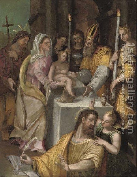 The Presentation in the Temple by (after) Orazio Samacchini - Reproduction Oil Painting