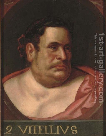 The Emperor Vitellius, in a feigned oval by (after) Otto Van Veen - Reproduction Oil Painting