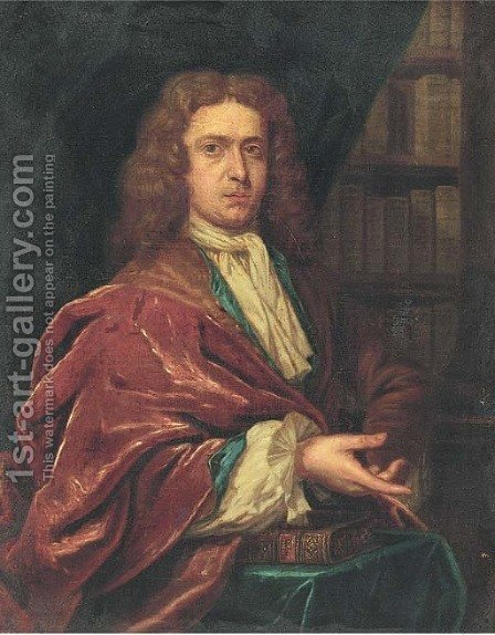 Portrait of a gentleman 2 by (after) Sir Peter Lely - Reproduction Oil Painting