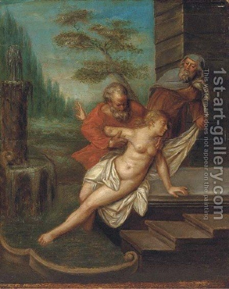 Susannah and the elders by (after) Rubens, Peter Paul - Reproduction Oil Painting