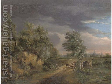 The incoming storm by (after) Philip Jacques De Loutherbourg - Reproduction Oil Painting