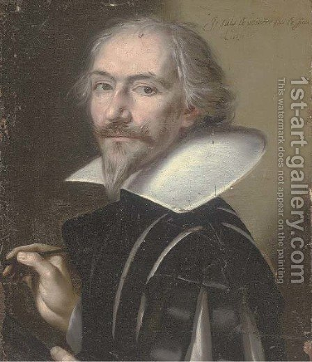Portrait of an artist by (after) Philippe De Champaigne - Reproduction Oil Painting