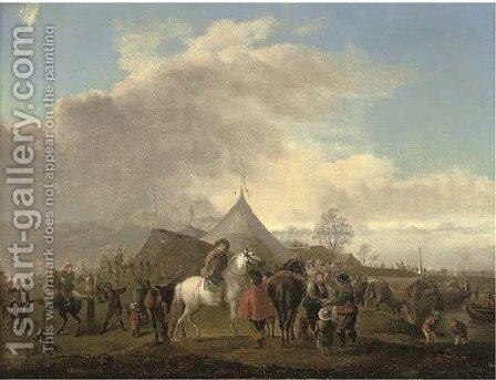 A horse fair by (after) Philips Wouwerman - Reproduction Oil Painting