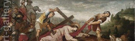 Christ on the Road to Calvary by (after) Pieter The Elder Bruegel - Reproduction Oil Painting