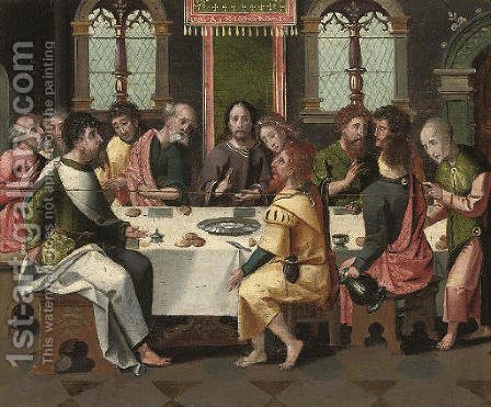The Last Supper 2 by (after) Pieter Coecke Van Aelst - Reproduction Oil Painting