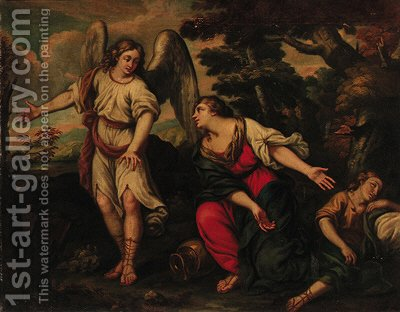 The Banishment of Hagar and Ishmael by (after) Pietro Da Cortona (Barrettini) - Reproduction Oil Painting