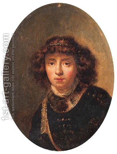 Portrait of a youth by (after) Rembrandt Van Rijn - Reproduction Oil Painting