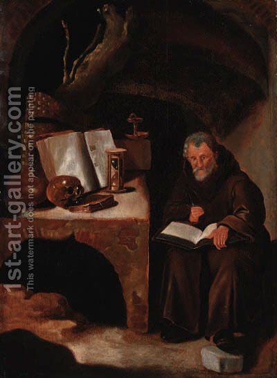 Saint Jerome by (after) Rembrandt Van Rijn - Reproduction Oil Painting