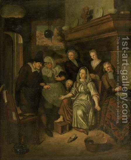 The doctor's visit by (after) Richard Brakenburgh - Reproduction Oil Painting