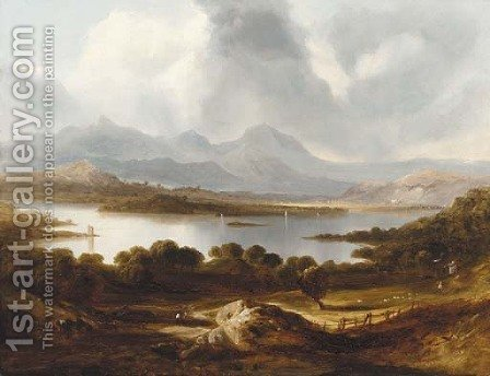 Lake Windermere, Westmorland by (after) Richard Wilson - Reproduction Oil Painting