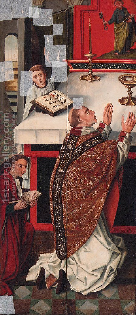 The Mass of Saint Gregory by (after) Rogier Van Der Weyden - Reproduction Oil Painting