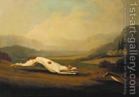Hare coursing 2 by (after) Samuel Spode - Reproduction Oil Painting