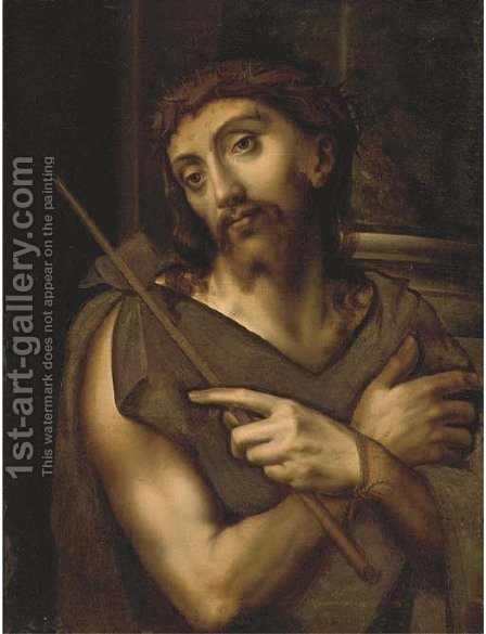 Ecce Homo 2 by (after) Sebastiano Del Piombo (Luciani) - Reproduction Oil Painting