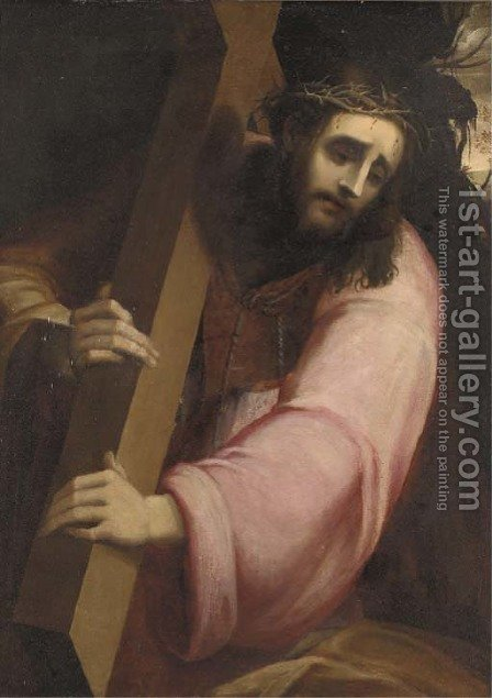Christ carrying the Cross by (after) Sebastiano Del Piombo (Luciani) - Reproduction Oil Painting