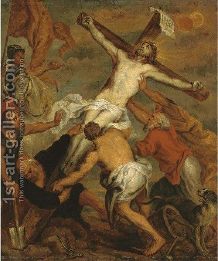 The Crucifixion by (after) Dyck, Sir Anthony van - Reproduction Oil Painting