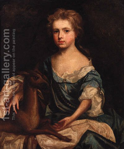 Portrait of a young Lady by (after) Sir Peter Lely - Reproduction Oil Painting