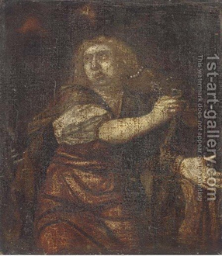 A Female Saint by (after) Sir Peter Paul Rubens - Reproduction Oil Painting