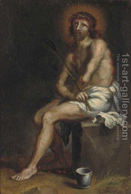 Christ the Man of Sorrows by (after) Sir Peter Paul Rubens - Reproduction Oil Painting