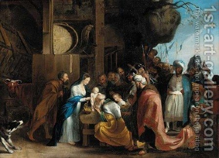 The Adoration of the Magi 4 by (after) Sir Peter Paul Rubens - Reproduction Oil Painting