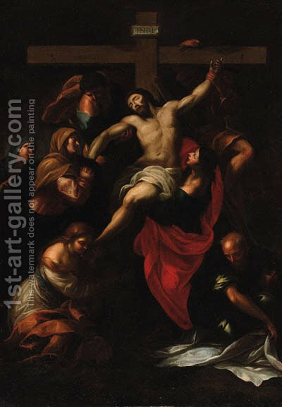 The Descent from the Cross 2 by (after) Sir Peter Paul Rubens - Reproduction Oil Painting