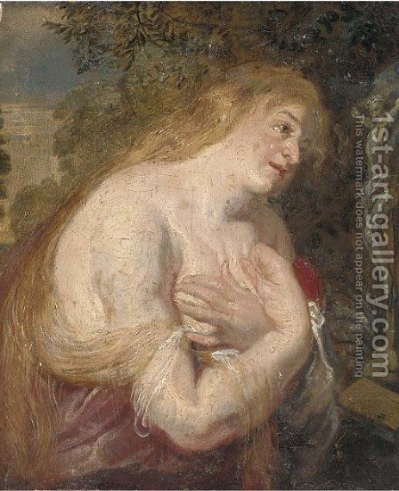 The Penitent Magdalen by (after) Sir Peter Paul Rubens - Reproduction Oil Painting
