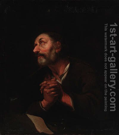 The penitent Saint Peter by (after) Sir Peter Paul Rubens - Reproduction Oil Painting