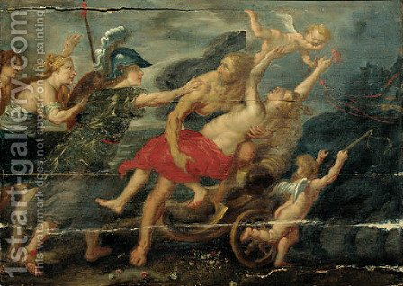 The rape of Deianera by (after) Sir Peter Paul Rubens - Reproduction Oil Painting