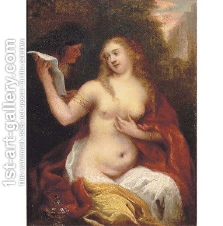 Bathsheba receiving David's letter by (after) Theodor Van Thulden - Reproduction Oil Painting