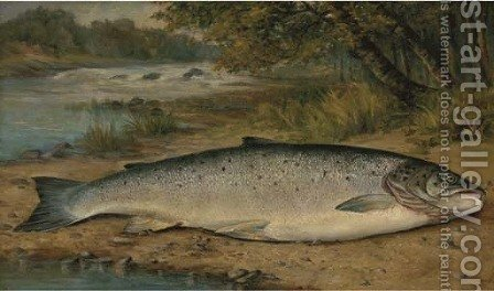 The catch of the day by (after) Thomas G. Targett - Reproduction Oil Painting