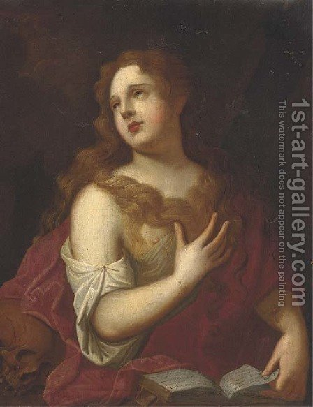 Saint Mary Magdalene 2 by (after) Tiziano Vecellio (Titian) - Reproduction Oil Painting