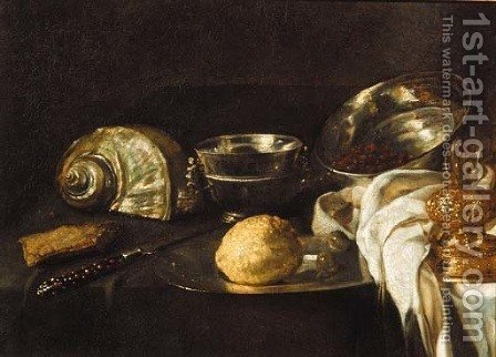 A Nautilus shell by (after) Willem Kalff - Reproduction Oil Painting