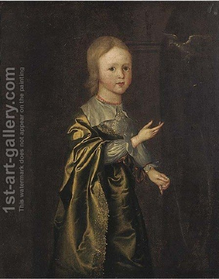 Portrait of a girl by (after) Wybrand Simonsz. De Geest - Reproduction Oil Painting