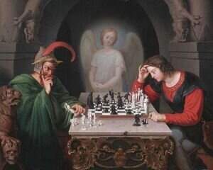 Famous paintings of Chess: Die Schachspieler