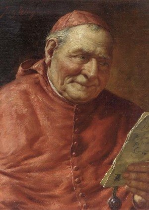 Reproduction oil paintings - Fritz Wagner - Reading cardinal