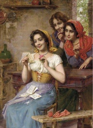 Reproduction oil paintings - Gaetano Bellei - The Love Letter