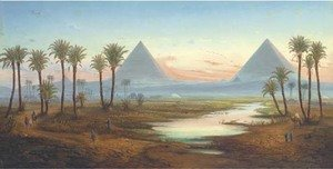 German School reproductions - The pyramids at Giza, Egypt