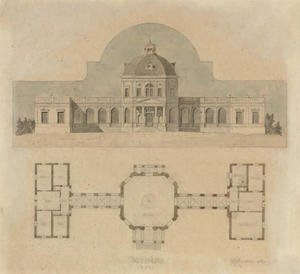 German School reproductions - An architectural design for a Jagdschloss