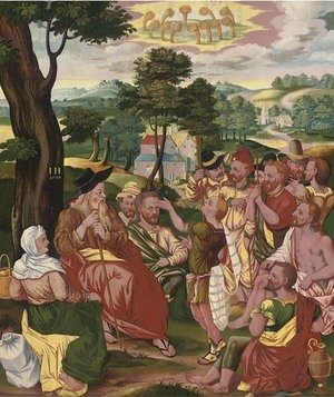 Reproduction oil paintings - German School - Joseph interpreting Pharaoh's dream Genesis