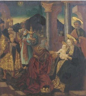 Reproduction oil paintings - German School - The Adoration of the Magi