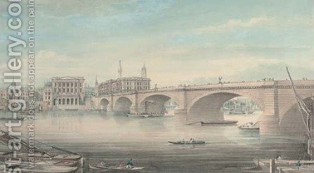 Paddlesteamers and other shipping on the Thames before London Bridge