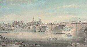 Reproduction oil paintings - Gideon Yates - Paddlesteamers and other shipping on the Thames before London Bridge