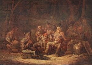Famous paintings of Taverns: Peasants in the Tavern