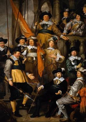 Reproduction oil paintings - Govert Teunisz. Flinck - The Company of Captain Albert Bas and Lieutenant Lucas Conijn 1645