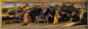 Medieval & Gothic Art painting reproductions: Rest during the Flight into Egypt 1423