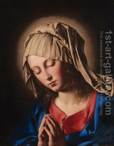 The Virgin in prayer by Giovanni Battista Salvi, Il Sassoferrato - Reproduction Oil Painting