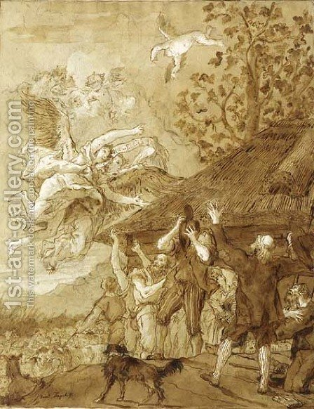 The Annunciation to the Shepherds by Giovanni Domenico Tiepolo - Reproduction Oil Painting