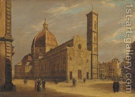 The Duomo, Florence by Giuseppe Gherardi - Reproduction Oil Painting